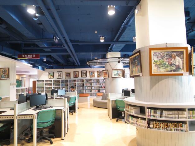 彰化市立圖書館三樓電腦網路區