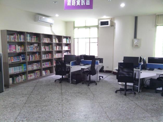 大村鄉立圖書館1樓網路資訊區