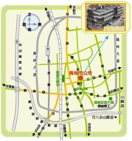 員林市立圖書館地理位置