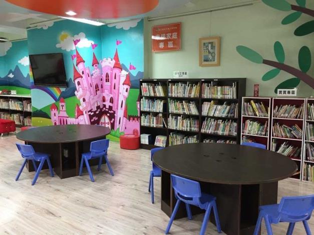 田中鎮立圖書館兒童閱讀區