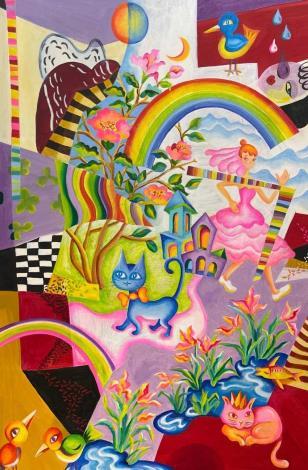 滴答滴的時間夢遊—可文玉油畫展003