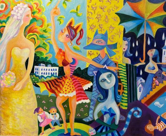 滴答滴的時間夢遊—可文玉油畫展001